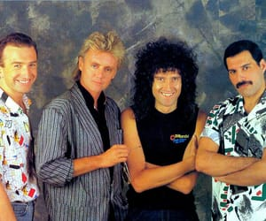 Queen, Freddie Mercury, and brian may image