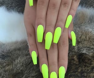 nails, neon, and trendy image