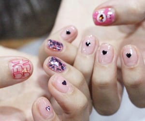 manicure, nails, and korean style image