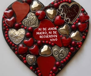 amor, corazón, and frases español image