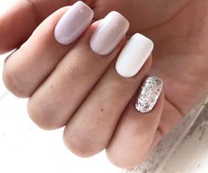 Blanc, glitter, and nail polish image