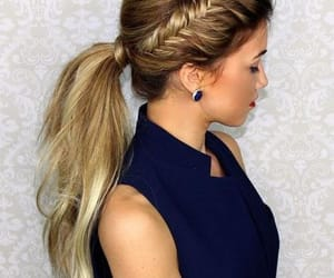 blond, tresse, and braid image