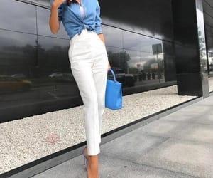 blue, fashion, and Blanc image