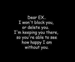 ex, happy, and quote image