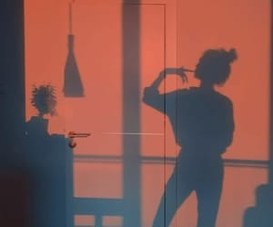 shadow, girl, and beauty image