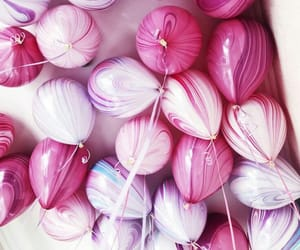 balloon, happy birthday, and pink image