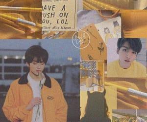 yellow, lockscreen, and jungkook image