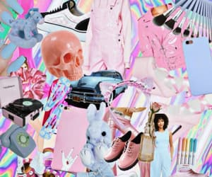 aesthetics, pale blue, and pale pink image