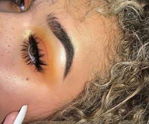 makeup, orange, and beauty image