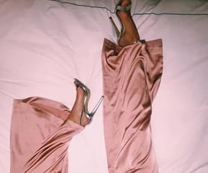 baby pink, high heels, and money image