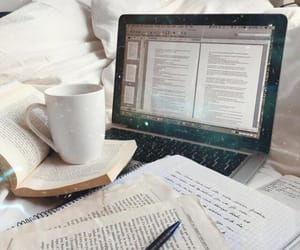 study, books, and coffee image