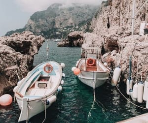 boat, summer, and travel image