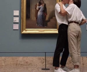 kiss, love, and art image