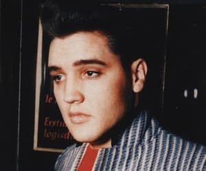 1950s, black and white, and elvis image