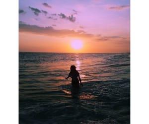 beach, beautiful, and girl image