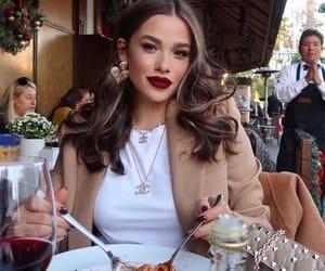 girl, fashion, and pasta image