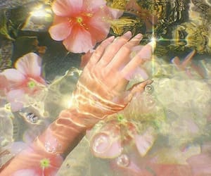 flowers, water, and water aesthetic image