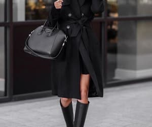 fashion, outfit, and all black image