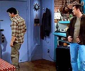 chandler bing, joey tribbiani, and funny image