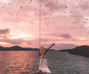 birds, dress, and free people image