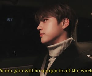 aesthetic, seokjin, and bts quote image