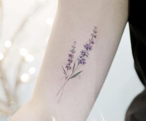 art, lavender, and tattoo image