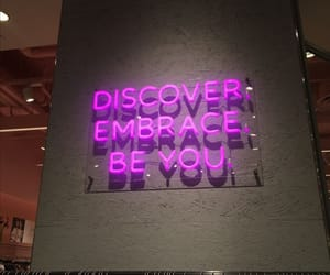 discover, embrace, and neon image
