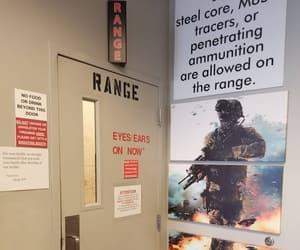 door, eyes ears, and gun range image