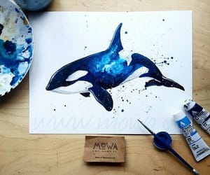 animals, blue, and draw image