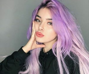 colored hair, lavender, and lilac image