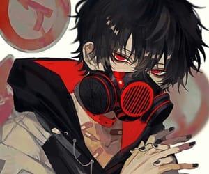 black and red, dark, and gasmasks image