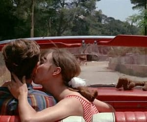 red, retro, and couple image