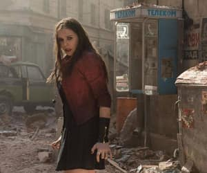 elizabeth olsen, scarlet witch, and age of ultron image