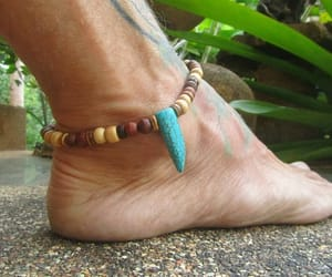 beach, hippie, and anklet image