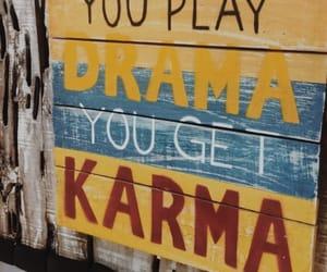 karma, quote, and savage image