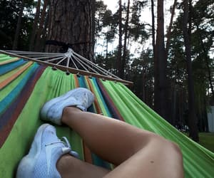 camping, white sneakers, and colors image