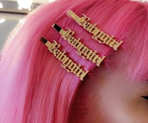 gold, pink, and babygirl image
