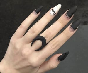 aesthetic, black, and hand image