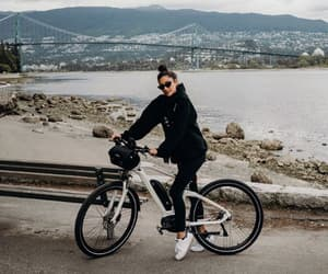 actress, bike, and british columbia image