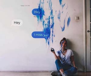 art, girl, and message image