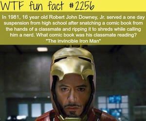 iron man, robert downey jr, and facts image