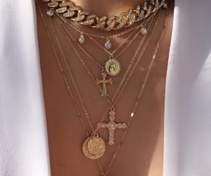 accessories, necklace, and gold image