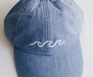 aesthetic, blue, and cap image
