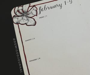 february, hand lettering, and journal image