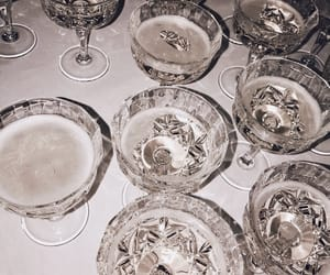 champagne, crystal, and drinks image