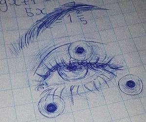 drawing, eyebrows, and eyes image