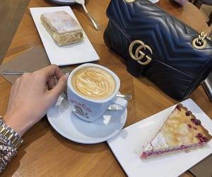 caffee, cake, and coffee image