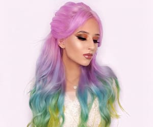 beautiful, colorful, and girl image