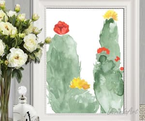 etsy, instant download, and cactus print image