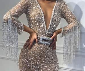 dress, fashion, and sparkle image